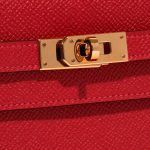 Hermès Kelly to-go Epsom Rouge Casaque Red Closing System   Sell your designer bag on Saclab.com