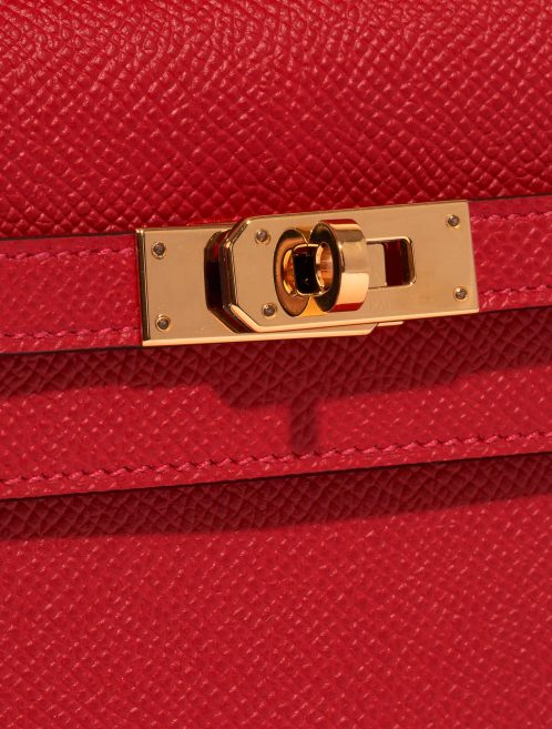 Hermès Kelly to-go Epsom Rouge Casaque Red Closing System | Sell your designer bag on Saclab.com