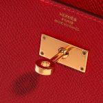 Hermès Kelly to-go Epsom Rouge Casaque Red Logo   Sell your designer bag on Saclab.com