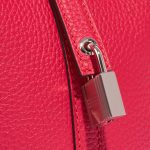 Hermès Picotin 18 Taurillon Clemence / Swift  Framboise / Rouge Sellier Pink, Red Closing System   Sell your designer bag on Saclab.com