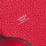 Hermès Picotin 18 Taurillon Clemence / Swift  Framboise / Rouge Sellier Pink, Red Logo   Sell your designer bag on Saclab.com