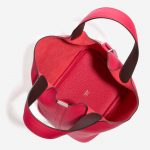 Hermès Picotin 18 Taurillon Clemence / Swift  Framboise / Rouge Sellier Pink, Red Inside   Sell your designer bag on Saclab.com