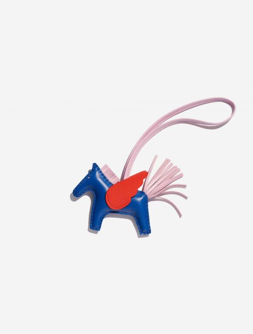 Hermès Rodeo Pegasus PM Swift Bleu de Galice / Rose Texas / Mauve Sylvestre Rose, Blue, Dark blue, Pink Front | Sell your designer bag on Saclab.com