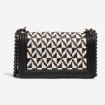 Chanel Boy Old Medium Lamb Black / White Black, White Back | Sell your designer bag on Saclab.com