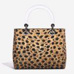 Dior Lady Medium Fabric / PVC Leopard Black, Brown, Multicolour Back   Sell your designer bag on Saclab.com