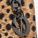 Dior Lady Medium Fabric / PVC Leopard Black, Brown, Multicolour Closing System   Sell your designer bag on Saclab.com