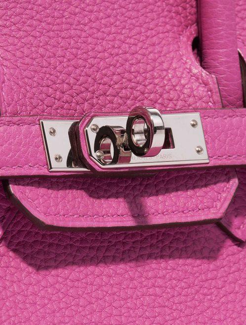 Hermès Birkin 25 Togo Magnolia Pink, Violet Closing System | Sell your designer bag on Saclab.com