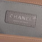 Chanel Boy New Medium Lamb Ash Rose Rose Logo | Sell your designer bag on Saclab.com