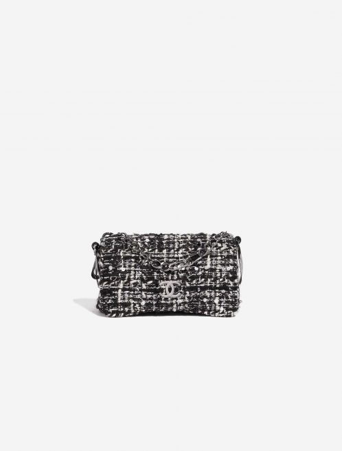 Chanel Vintage Flap Small Tweed Black / White Black, White Front | Sell your designer bag on Saclab.com