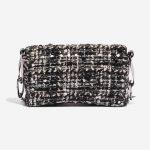 Chanel Vintage Flap Small Tweed Black / White Black, White Back   Sell your designer bag on Saclab.com