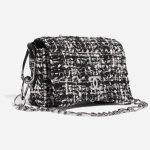 Chanel Vintage Flap Small Tweed Black / White Black, White Side Front   Sell your designer bag on Saclab.com