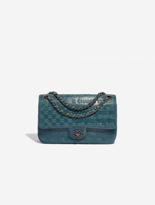 Chanel Timeless Small Calf Blue Blue, Petrol Front | Sell your designer bag on Saclab.com