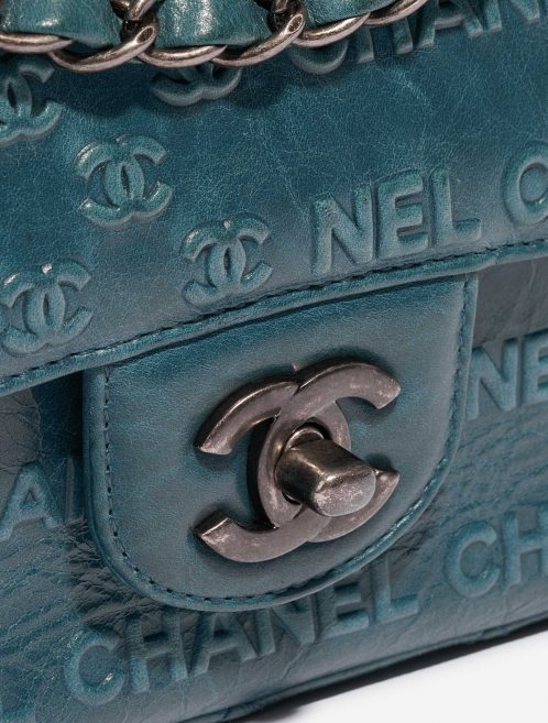 Chanel Timeless Small Calf Blue Blue, Petrol Closing System | Sell your designer bag on Saclab.com