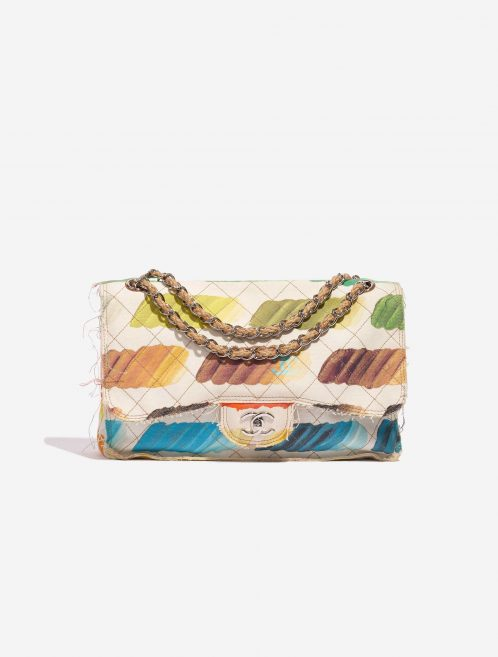 Chanel Timeless Flap Jumbo Canvas White Paint Palette Multicolour, White Front | Sell your designer bag on Saclab.com