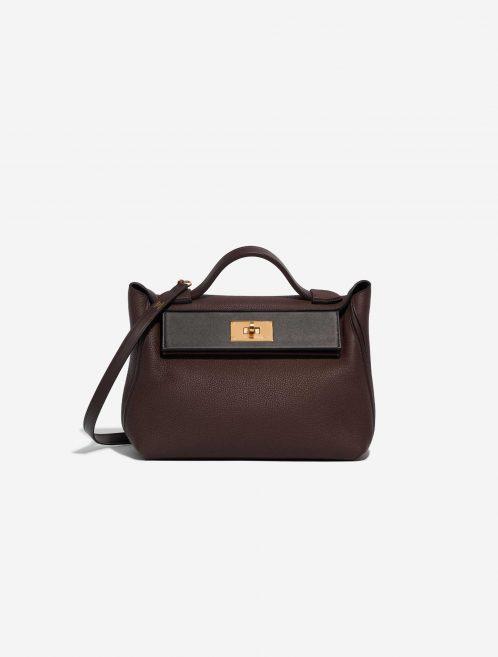 Hermès 24/24 29 Togo / Swift Rouge Sellier / Black / Havane Black, Brown Front | Sell your designer bag on Saclab.com