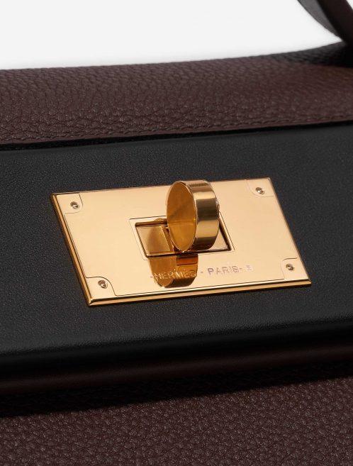 Hermès 24/24 29 Togo / Swift Rouge Sellier / Black / Havane Black, Brown Closing System | Sell your designer bag on Saclab.com