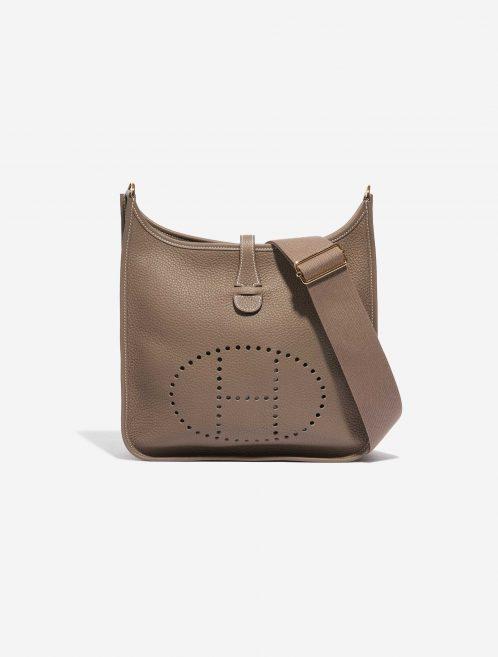 Hermès Evelyne 29 Clemence Etoupe Brown Front | Sell your designer bag on Saclab.com