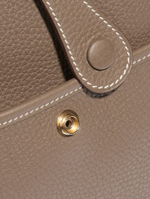 Hermès Evelyne 29 Clemence Etoupe Brown Closing System | Sell your designer bag on Saclab.com