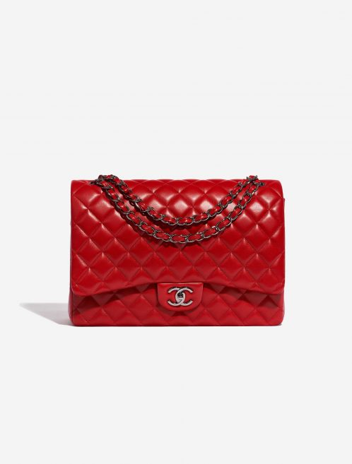 Chanel Timeless Maxi Lamb Red Red Front | Sell your designer bag on Saclab.com