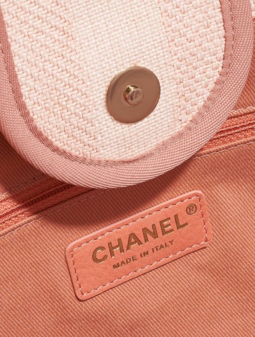 Chanel Deauville Medium Canvas Pink Rose, Pink Logo | Sell your designer bag on Saclab.com