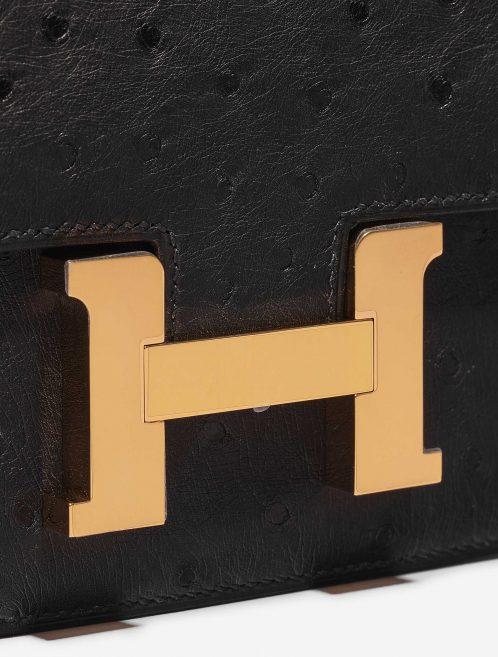 Hermès Constance 18 Ostrich Black Black Closing System | Sell your designer bag on Saclab.com