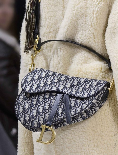 Dior Saddle Medium Oblique Jacquard Blue Black, Blue, Natural Model   Sell your designer bag on Saclab.com